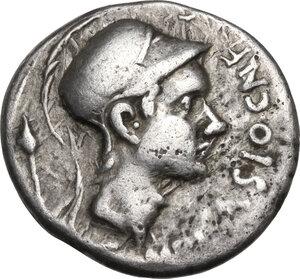obverse: Cn. Cornelius Blasio. AR Denarius, 112-111 BC