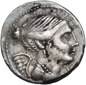 obverse: L. Valerius Flaccus.. AR Denarius, 108-107 BC