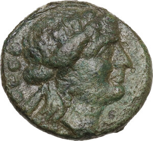 obverse: Lucania, Poseidonia-Paestum. AE Triens, 264-241 BC