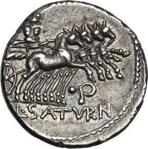reverse: L. Appuleius Saturninus. AR Denarius, 104 BC