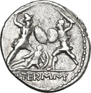 reverse: Q. Minucius Thermus.. AR Denarius, 103 BC
