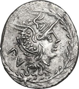 obverse: M. Lucilius Rufus.. AR Denarius, 101 BC