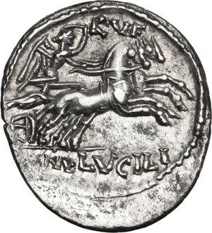 reverse: M. Lucilius Rufus.. AR Denarius, 101 BC