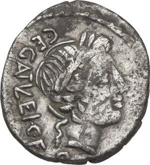 obverse: C. Egnatuleius C.f. . AR Quinarius, 97 BC