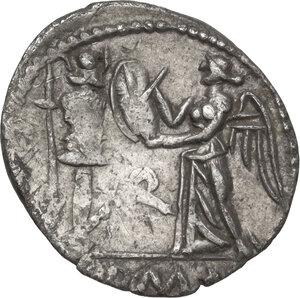 reverse: C. Egnatuleius C.f. . AR Quinarius, 97 BC
