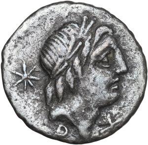 obverse: L. Caecilius Metellus and C. Publicius Malleolus.. AR Denarius, 96 BC
