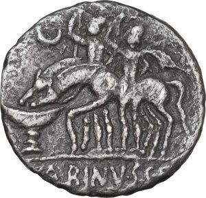 reverse: L. Caecilius Metellus and C. Publicius Malleolus.. AR Denarius, 96 BC