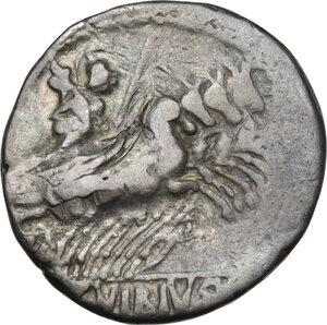 reverse: C. Vibius C. f. Pansa.. AR Denarius, 90 BC