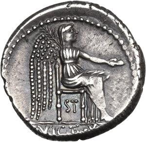 reverse: M. Cato. AR Denarius, 89 BC