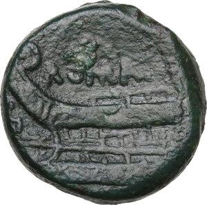 reverse: Anonymous. AE Semis, 86 BC