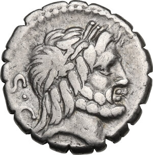 obverse: Q. Antonius Balbus.. AR Denarius serratus, 83-82 BC