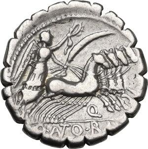 reverse: Q. Antonius Balbus.. AR Denarius serratus, 83-82 BC
