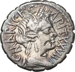 obverse: C. Marius C.f. Capito.. AR Denarius, 81 BC