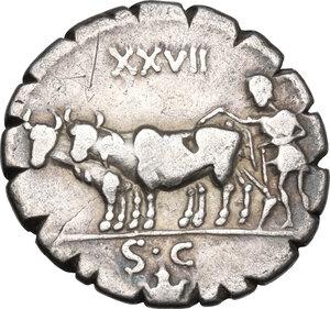 reverse: C. Marius C.f. Capito.. AR Denarius, 81 BC
