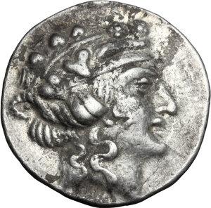 obverse: Eastern Europe.. AR Tetradrachm, imitation of Thasos, after 148 BC