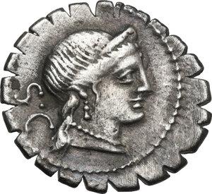 obverse: C. Naevius Balbus. AR Denarius serratus, 79 BC