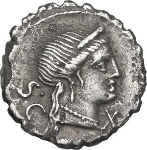 obverse: C. Naevius Balbus.. AR Denarius, 79 BC