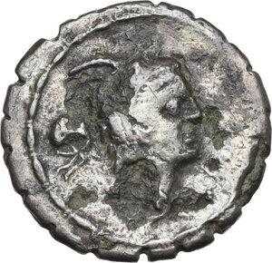 obverse: L. Papius.. Fourrée Denarius, 79 BC