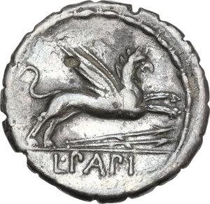reverse: L. Papius.. Fourrée Denarius, 79 BC