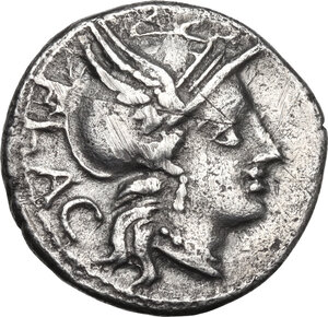 obverse: L. Rutilius Flaccus.. AR Denarius, 77 BC