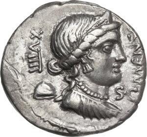 obverse: L. Farsuleius Mensor.. AR Denarius, 75 BC