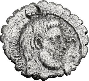 obverse: T. Vettius Sabinus.. AR Denarius serratus, 70 BC