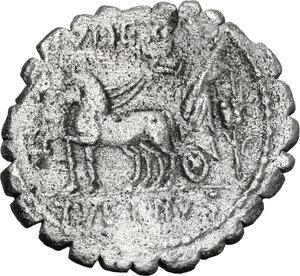 reverse: T. Vettius Sabinus.. AR Denarius serratus, 70 BC