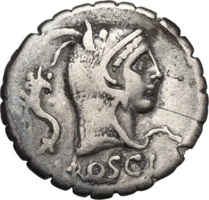 obverse: L. Roscius Fabatus.. AR Denarius, 64 BC