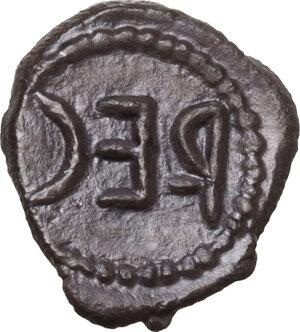 reverse: Bruttium, Rhegion.  Anaxilas Tyrant (c. 494/3-462/1 BC).. AR Litra. Struck circa 480-462/1 BC