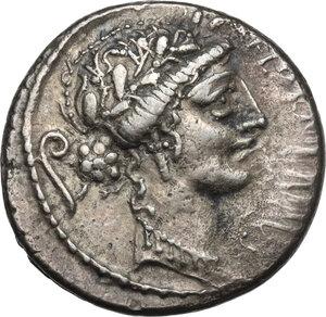 obverse: C. Servilius. AR Denarius, 57 BC