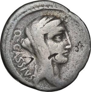 obverse: Q. Cassius Longinus.. AR Denarius, 55 BC