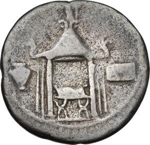 reverse: Q. Cassius Longinus.. AR Denarius, 55 BC