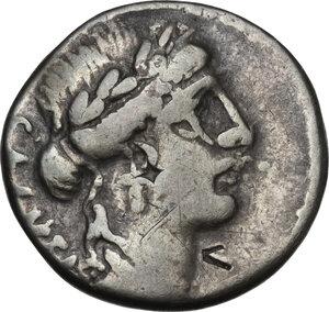 obverse: Mn. Acilius.. AR Denarius, 49 BC