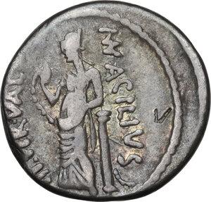 reverse: Mn. Acilius.. AR Denarius, 49 BC