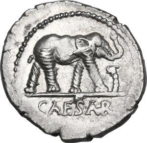 obverse: Julius Caesar.. AR Denarius, mint moving with Caesar, 49-48 BC