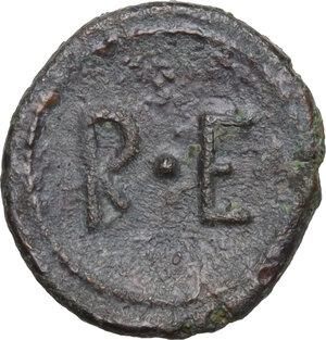 reverse: Bruttium, Rhegion. AE Onkia, 450-425 BC