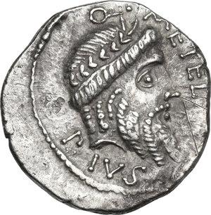 obverse: Q. Caecilius Metellus Pius Scipio.. AR Denarius, 47-46 BC, Africa mint