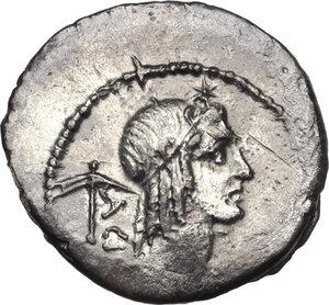 obverse: L. Valerius Acisculus.. AR Denarius, 45 BC