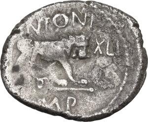 reverse: Fulvia, first wife of M. Antony (died 40 BC).. AR Quinarius, 43 BC