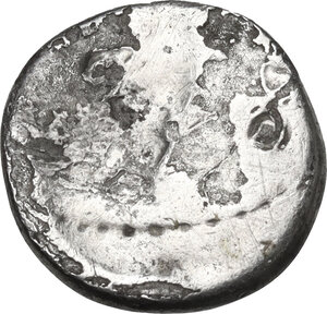 reverse: Fulvia, first wife of M. Antony (died 40 BC).. Brockage AR Quinarius, 43 BC