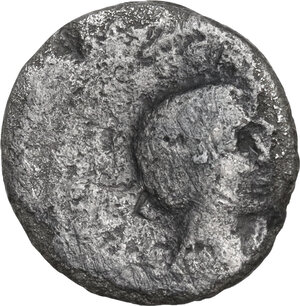 reverse: Lepidus and Octavian. . AR Denarius, 42 BC. Military mint traveling with Lepidus in Italy
