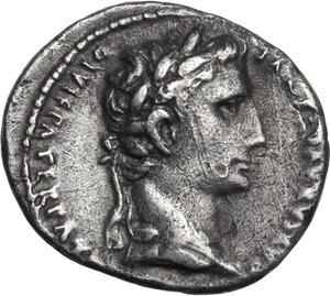 obverse: Augustus (27 BC - 14 AD)  . AR Denarius. Lugdunum (Lyon) mint. Struck 2 BC-12 AD