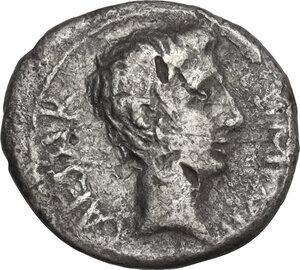 obverse: Augustus (27 BC - 14 AD).. AR Quinarius, uncertain mint, 29-26 BC