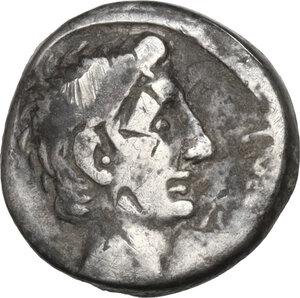 obverse: Augustus (27 BC - 14 AD).. AR Quinarius, uncertain Italian or Ephesus mint, 29-28 BC