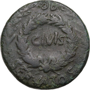reverse: Augustus (27 BC - 14 AD) .. AE Sestertius, Rome mint. C. Asinius Gallus, moneyer. Struck 16 BC