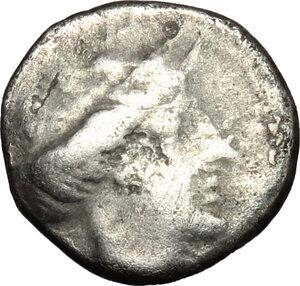 obverse: Bruttium, Terina. AR Triobol, c. 400-356 BC