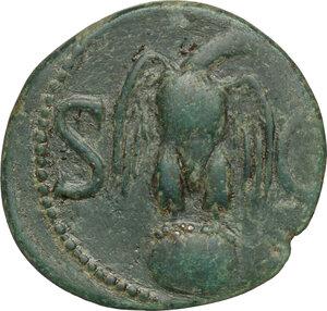 reverse: Divus Augustus (died 14 AD).. AE As. Struck under Tiberius, 34-37 AD