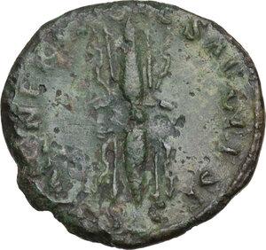 reverse: Divus Augustus (died 14 AD).. AE As. Restitution issue. Struck under Nerva, 98 AD