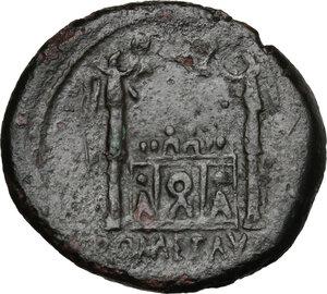 reverse: Tiberius as Caesar (4-14 AD).. AE As. Lugdunum mint. Struck under Augustus, 13-14 AD