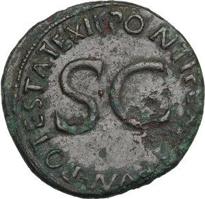 reverse: Tiberius as Caesar (4-14 AD).. AE As. Struck under Augustus, 8-10 AD